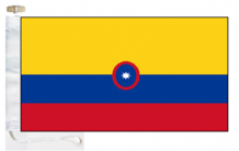 Colombia Civil Ensign Courtesy Boat Flags (Roped and Toggled)